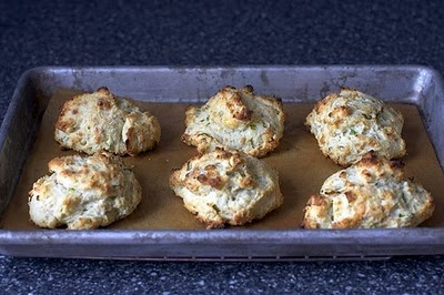 Blue Cheese Scallion Drop Biscuits: I'll never turn down anything with ...