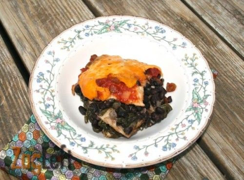 Satisfying and savory, this slow cooker black bean enchilada casserole ...