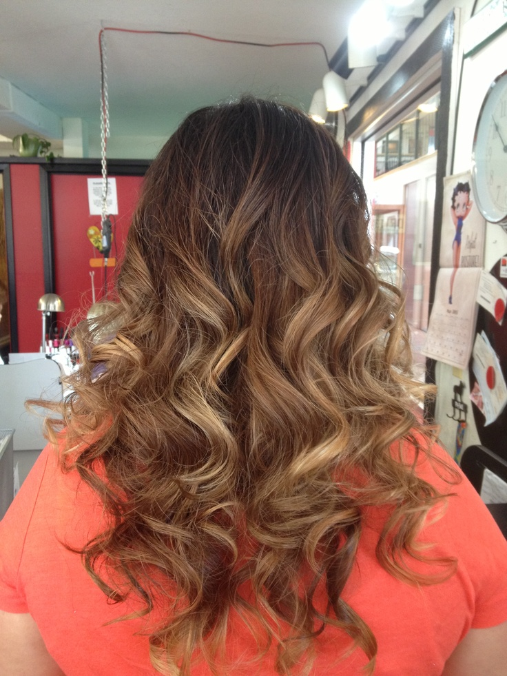 Ombré from dark to light | Hairstyles | Pinterest