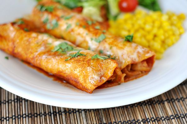 Mel's Kitchen Cafe | Red Chile Sauce Chicken Enchiladas
