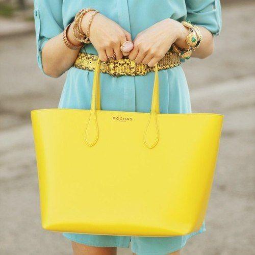 Rochas yellow sunshine bag.