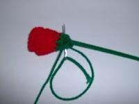 Free Crochet Long Stem Rose Pattern : Crochet long stem roses Crochet Pinterest