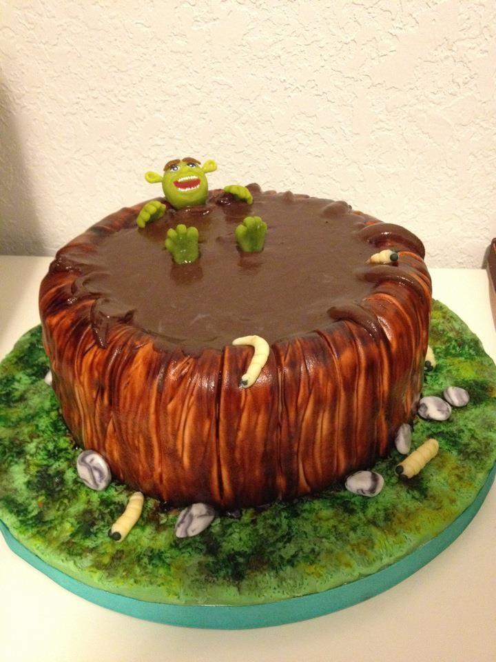 Hahahahah Shrek Cake