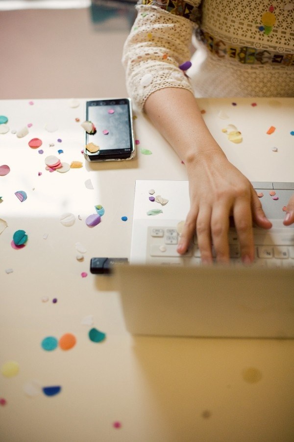 the ideal workday... sprinkled with confetti