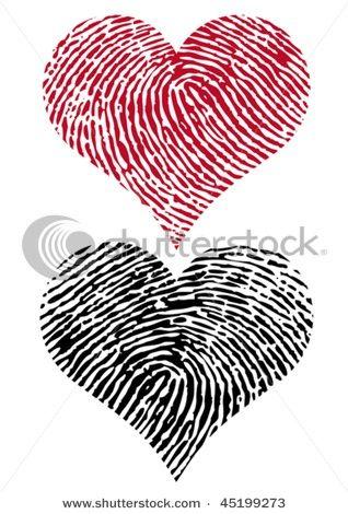Awesome idea for a tattoo- fingerprint hearts!