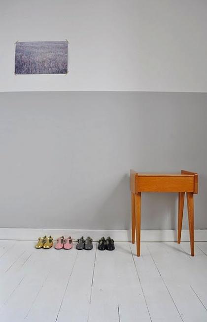Grey Wall Decor Pinterest : Two toned grey wall decorating ideas