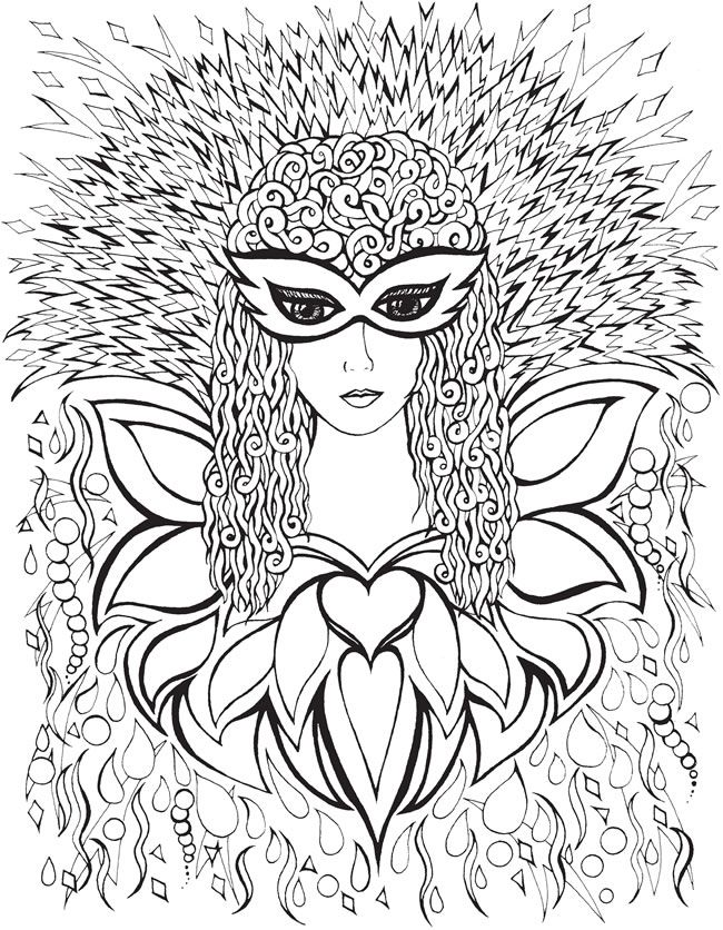 face coloring pages adults - photo#32