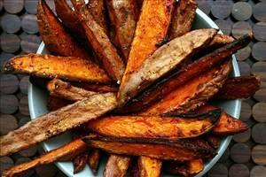 Vinegar & Salt Sweet Potato Wedges: balsamic vinegar, sweet potato ...