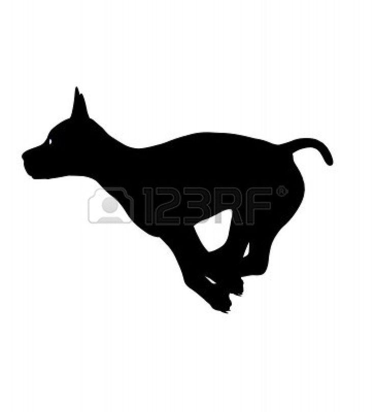 Running dog outline - photo#1