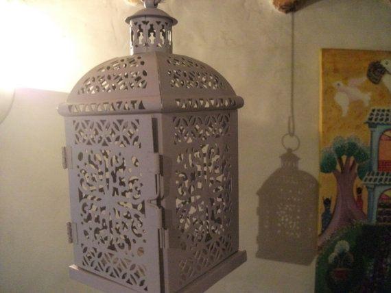 Lilac moroccan lantern handpainted indoor outdoor by binkylovecat 28