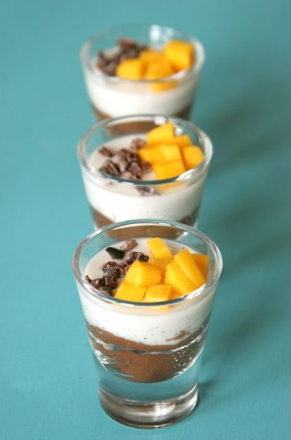 Chocolate and Vanilla Pudding Parfaits | Grain Free Treats | Pinterest
