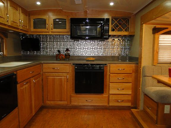 awesome backsplash front kitchen by space craft mfg in an rv