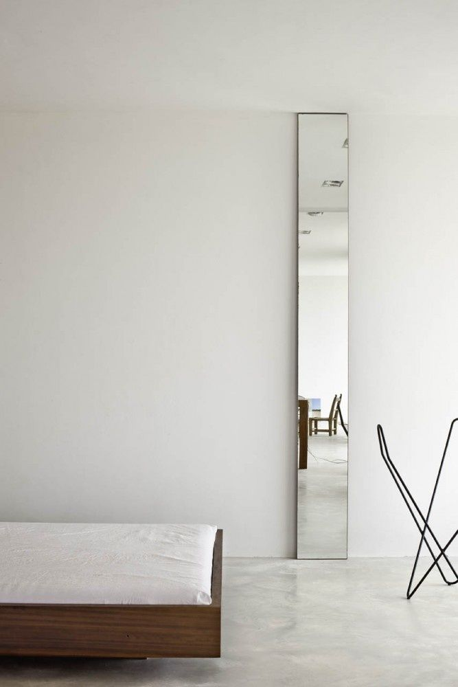 Floor to ceiling skinny mirror interiors residence for Long narrow mirror