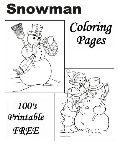 Snowman coloring pages neat and fun things for the kids pinterest