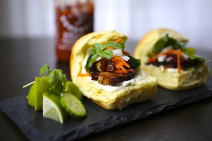 Pork Belly Bánh mì Sliders | Appetizers, Dips | Pinterest