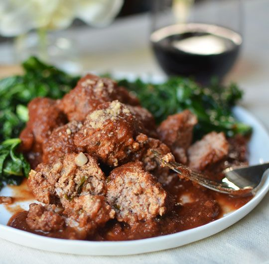 Veal Meatballs in Red Wine Sauce | Recipe