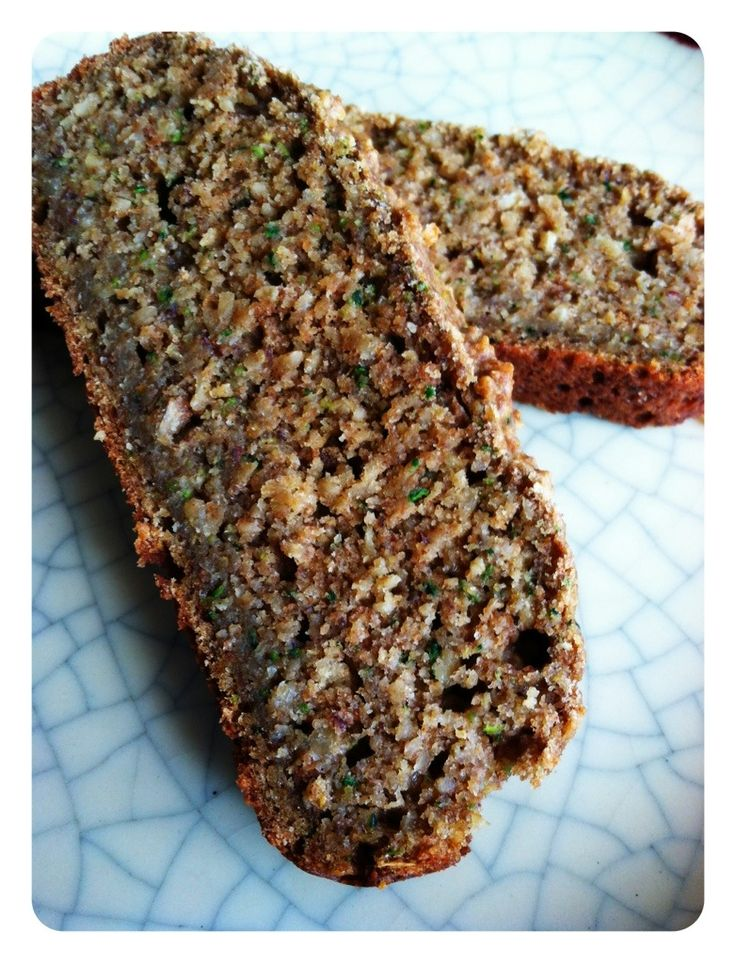 Healthy Zucchini Bread....I made this with oat flour and coconut flour ...