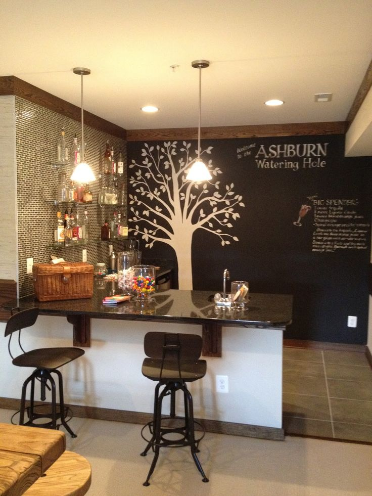 Finished basement bar for the home pinterest - Basemant with bar ...