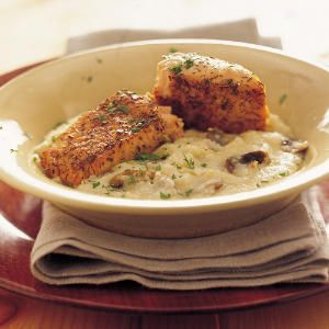 ... creamy Parmesan grits. This dish is special enough for company but