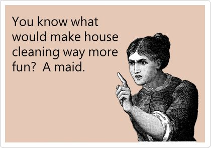 You know what would make house cleaning way more fun? A maid.