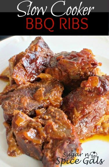 Spice Gals: Slow Cooker BBQ Country Ribs | Simply Slow Cooking | Pint ...