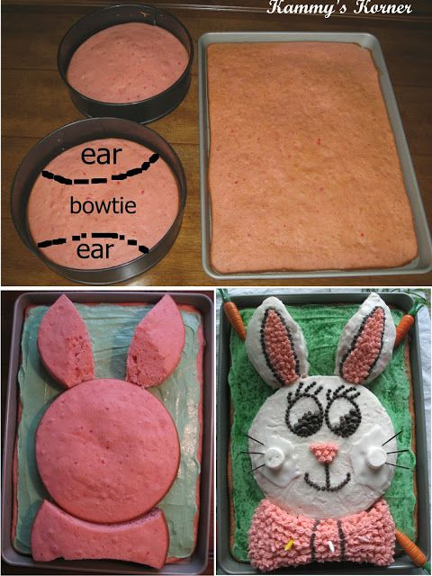 Easy Easter Bunny Cake When Mandy and Sarah were little, I made this ...
