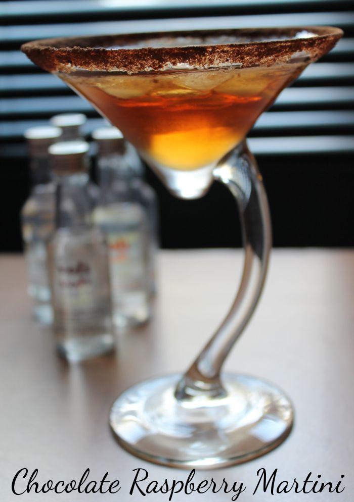 Chocolate Raspberry Martini #recipe - very simple!
