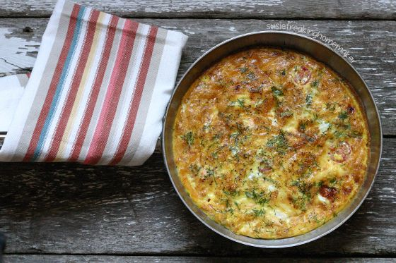 Susie Freaking Homemaker » Salmon and Asparagus Frittata
