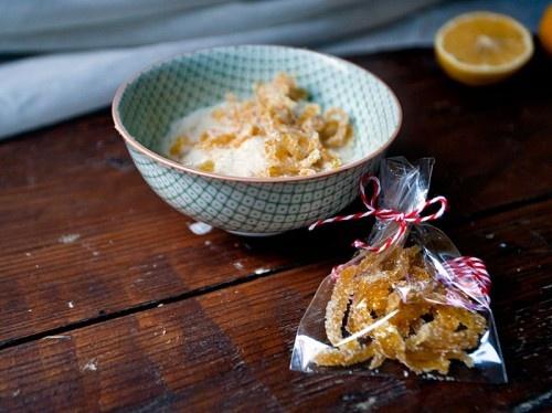 Candied Meyer Lemon Peels Juiced Meyer lemon halves (See previous ...