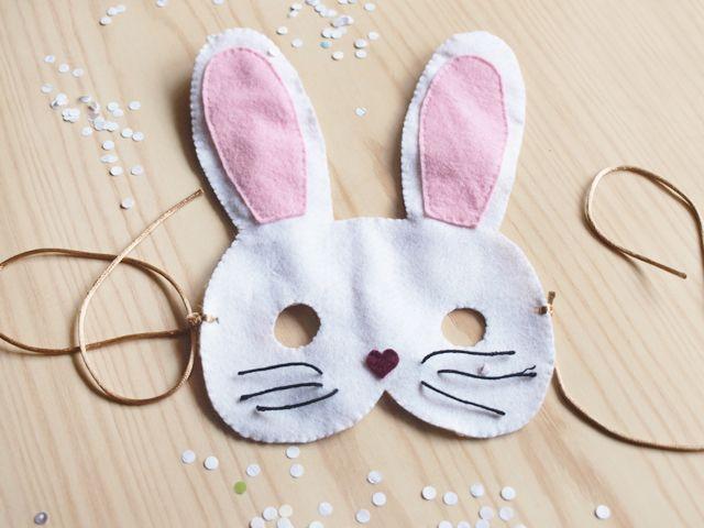 diy: antifaz de conejo