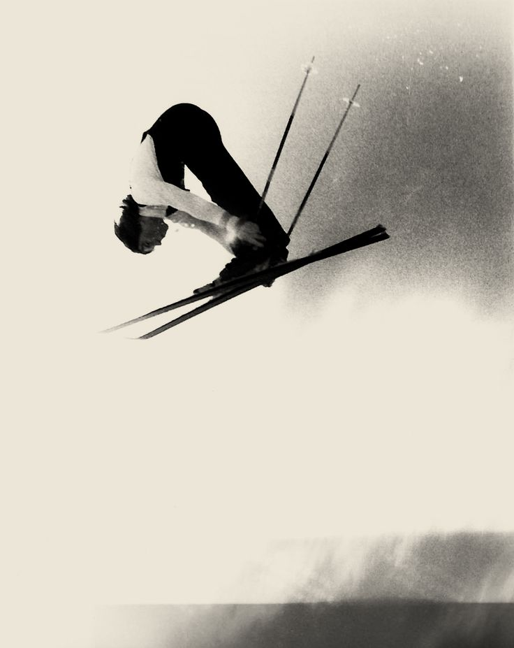 Vintage air time. #vintage #winter #sports #skiing