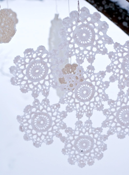 Crochet Snowflake : crocheted snowflakes Crochet - Snowflakes Pinterest