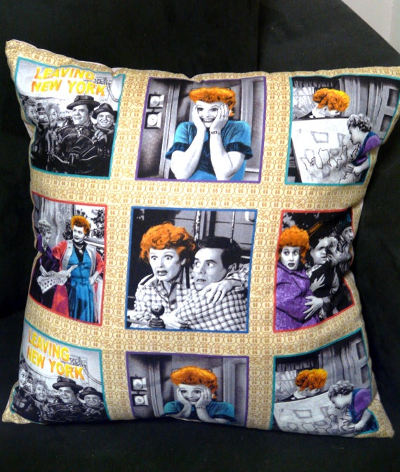 Rockabilly Home Decor : Love Lucy Cushion Lucille Ball Retro Rockabilly Home Decor