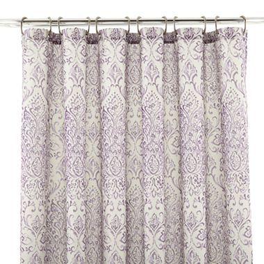 ROYAL VELVET Willet Shower Curtain Red