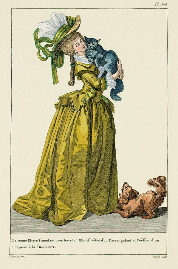 1787 Пьеро французской моды Plate - спереди и вид сбоку