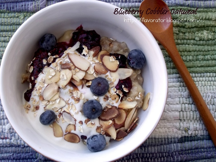 Blueberry cobbler oatmeal | { pinch of this...dash of that } | Pinter ...