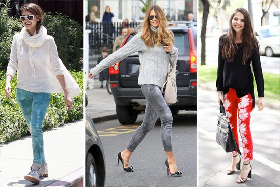 Tie Dye Jeans trend seen on Jessica Alba, Elle Macpherson and a street style fashionista... Yay or nay??