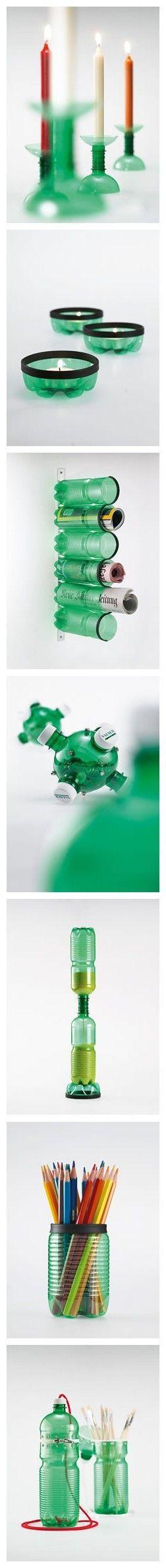 Idéias para reciclagem de Pet - Plastic Bottles - DIY - Reciclagem de Garrafas PET e Embalagens diversas!