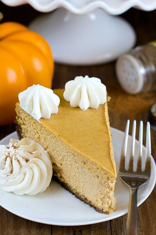 Pumpkin Pie Cheesecake with Gingersnap Crust | Recipe