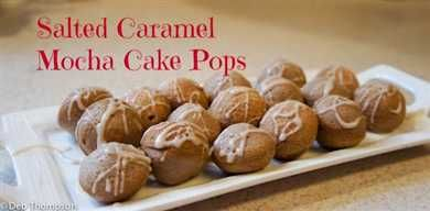 Salted Caramel Mocha Cake Pops #IDBaking | Just Short of Crazy ...