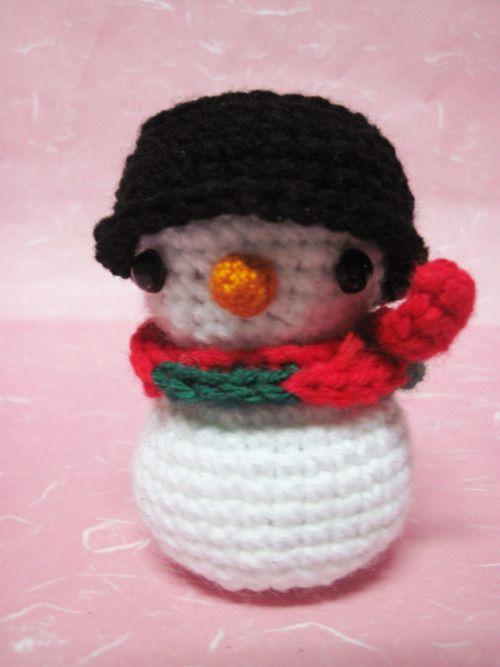Free Pattern Crochet Snowman : Snowman pattern Crochet for Christmas Pinterest