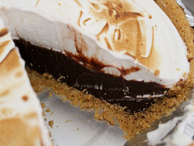"""Coffee """"S'mores"""" Pie 