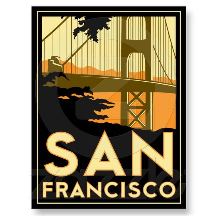 San francisco art deco poster Deco san francisco