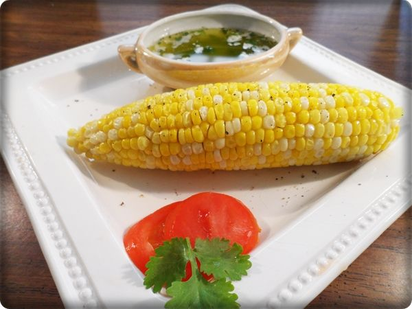 Easy Corn on the Cob with Cilantro Lime Butter - Delicious!
