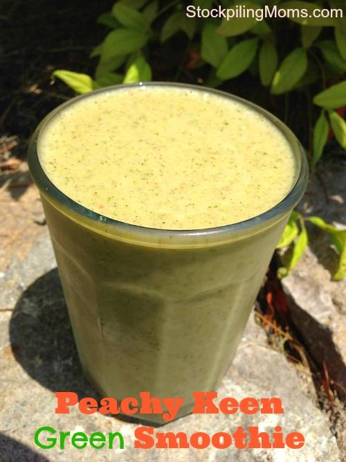 After workout smoothie: Peachy Keen Green Smoothie