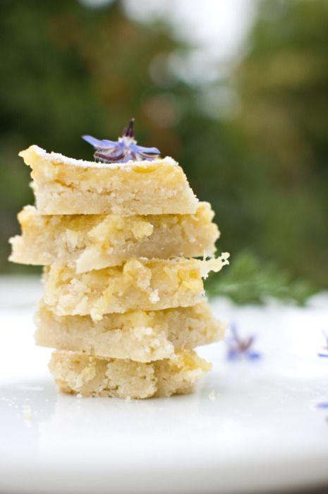 Lemon Ginger Bars | Hungry Buddha | Pinterest