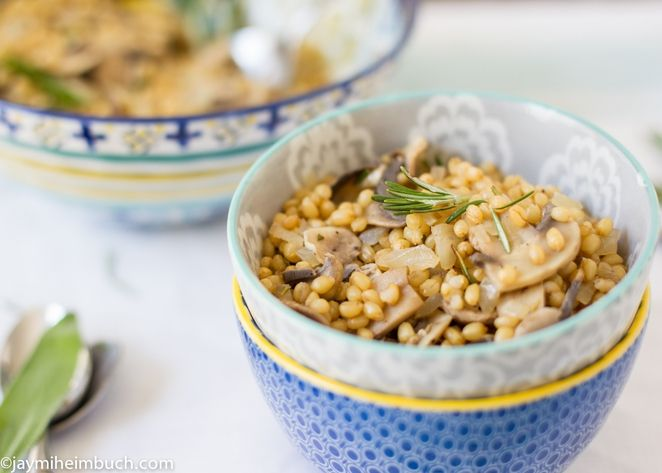 Warm Wheatberry Salad with Mushrooms and White Wine | Recipe