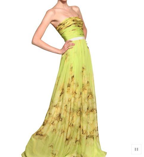 Yellow wedding gown from rusticweddingchic