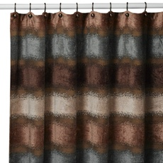 Brown Blue Shower Curtain