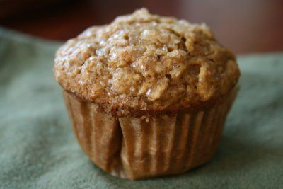 Pumpkin Applesauce muffins - Added a few chocolate chips to the top ...